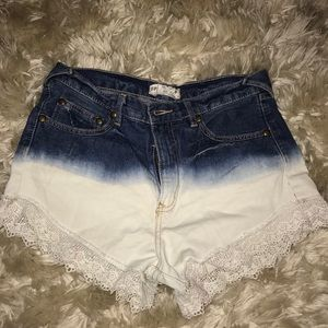 Free People ombré shorts